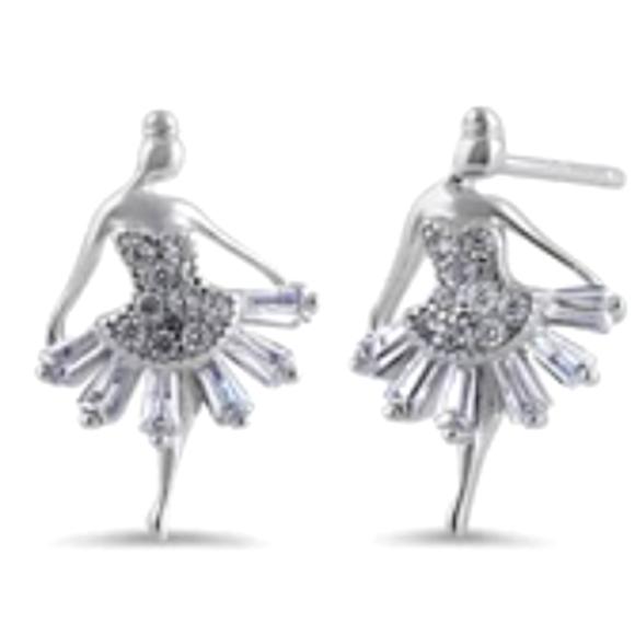 Vvegasbaby Silver & gold Jewelry - Ballerina earrings